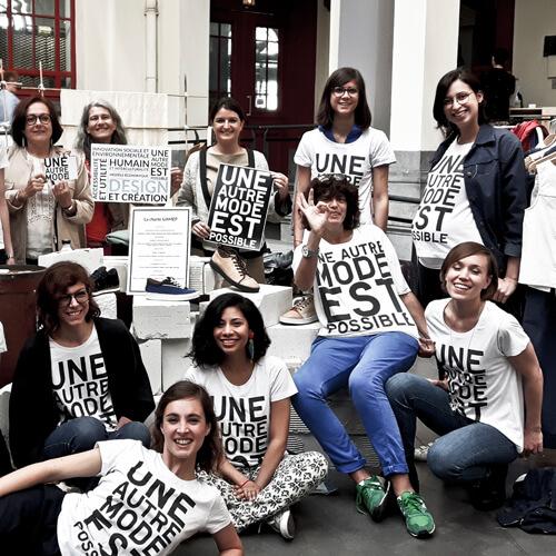 Team Une Autre Mode Est Possible aux FashionGreenDays